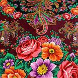 Любушка-голубушка 1824-18, павлопосадский платок шерстяной с шелковой бахромой, фото 6