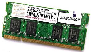 Оперативна пам'ять для ноутбука SODIMM Transcend DDR2 2Gb 800MHz 6400S CL6 Б/В