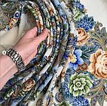 Любушка-голубушка 1824-0, павлопосадский платок шерстяной с шелковой бахромой, фото 4