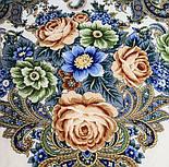 Любушка-голубушка 1824-0, павлопосадский платок шерстяной с шелковой бахромой, фото 5