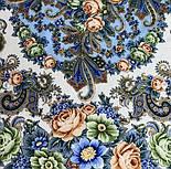 Любушка-голубушка 1824-0, павлопосадский платок шерстяной с шелковой бахромой, фото 9
