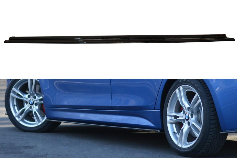 Диффузоры порогов юбка сплиттер тюнинг BMW 3 F30 M-sport рестайл