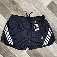 Шорты мужские спортивные Adidas, размеры M-3XL, тёмно-синие, 8811