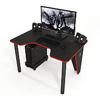 """Стол компьютерный 140х80х75 см. """"Ivar-1400"""" Геймерский, черный/красный"""