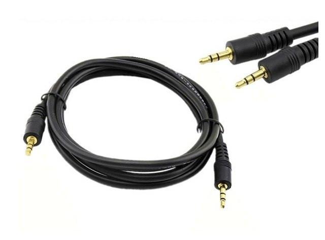 Кабель аудио AUX 3.5 jack 3м чёрный (пакет)
