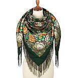 Любушка-голубушка 1824-9, павлопосадский платок шерстяной с шелковой бахромой, фото 2
