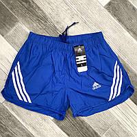 Шорты мужские спортивные Adidas, размеры M-3XL, электрик, 8811