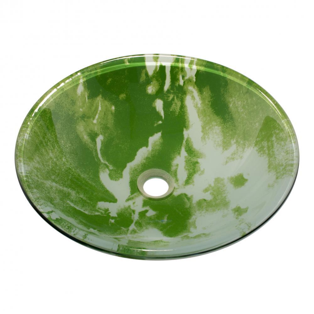 Накладной умывальник стеклянный круглый 420 мм (HR 3308)