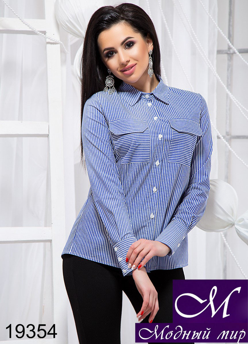 Блуза-рубашка женская (р. S, M, L, XL) арт. 19354