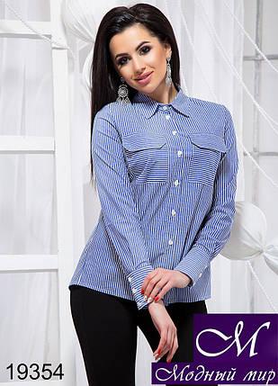 Блуза-рубашка женская (р. S, M, L, XL) арт. 19354, фото 2