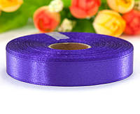 "Лента атласная 1,2см ширина (25 ярдов) ""LiaM"" Цена за рулон. Цвет - Фиолетовый"