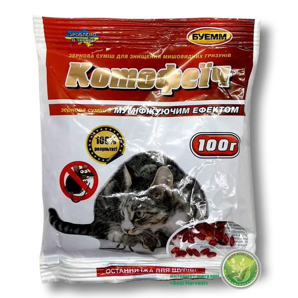 «Котофеич» зерно красное 100 г от крыс и мышей, оригинал