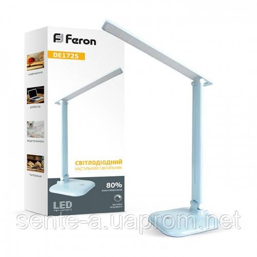 Cветодиодный настольный светильник DE1725 9W 6400K голубой  IP20 Feron