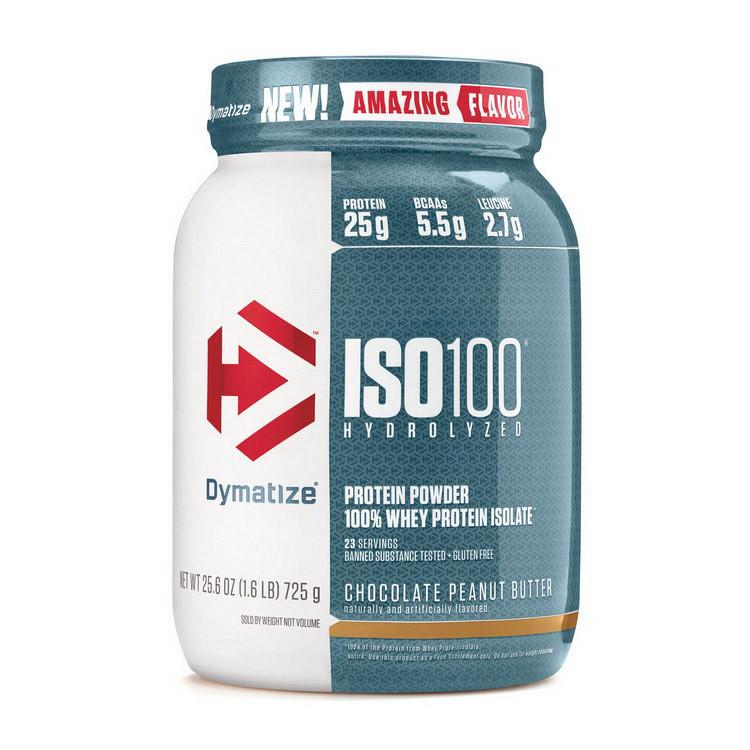 Сывороточный протеин гидролизат Dymatize ISO 100 (726 г) диматайз изо клубника