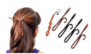 Набір шпильок Twist N Clip / Набор заколок для волос с украшением Twist N Clip