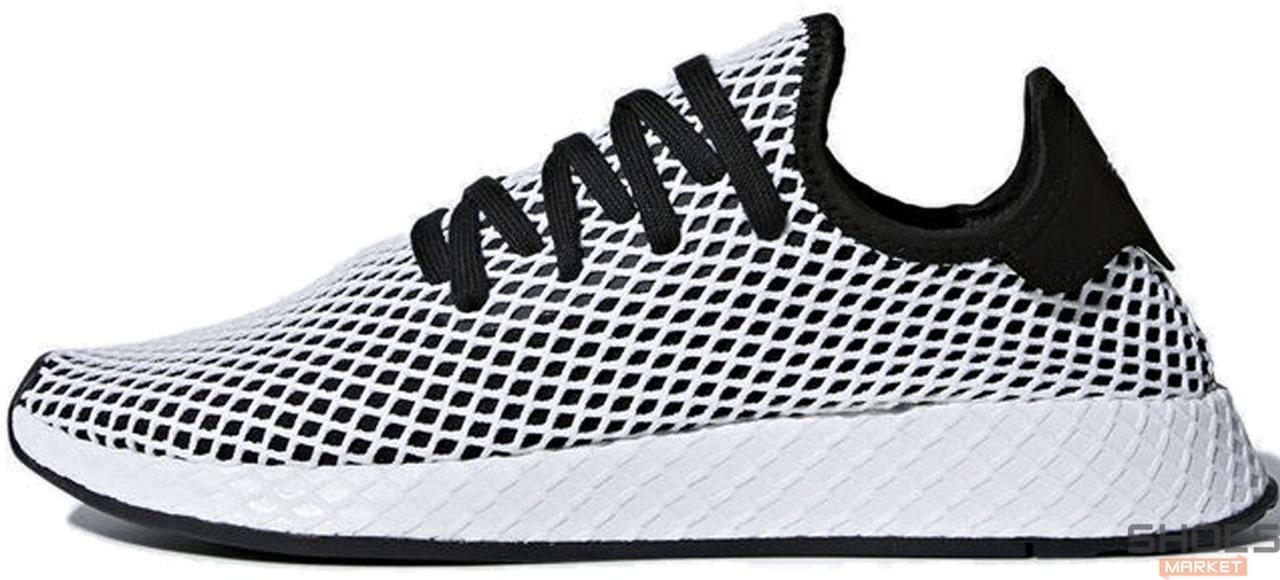 Мужские кроссовки Adidas Deerupt Runner Core Black/Core Black/Cloud White CQ2626, Адидас Дирапт Ранер