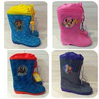 Резиновые сапожки с затяжкой Disney 25-33 размер