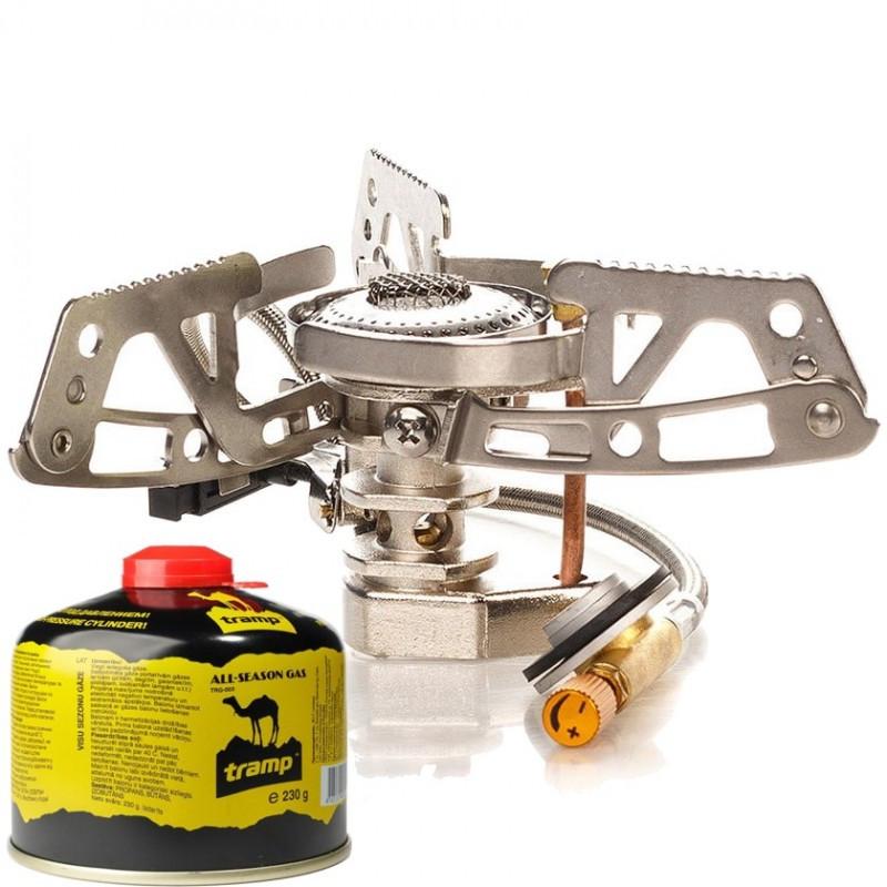 Пальник газовий з п'єзопідпалом, зі шлангом Tramp TRG-010. Горелка туристическая