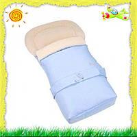Конверт для новорожденных удлиненный на овчине Womar №20 (Вомар №20) в ассортименте