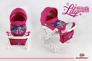 Коляска для кукол Adbor Lily WHITE