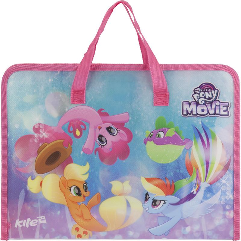 Портфель на молнии, 1 отдел., A4, My Little Pony LP17-202-02