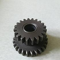 Шестерня промежуточная задней передачи z-26/20 КПП мототрактора, фото 3