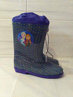 Резиновые сапожки с затяжкой Disney 25-33 размер Анна