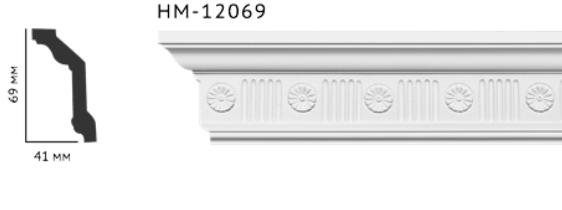 Карниз потолочный с орнаментом Classic Home New  HM-12069 лепной декор из полиуретана,