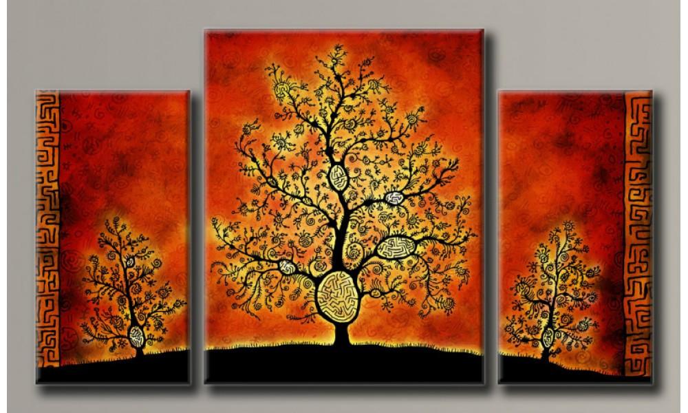 Модульная картина Стильные деревья 55х95,5 см (HAT-148)