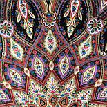 Золотая клетка 1826-5, павлопосадский платок шерстяной с шелковой бахромой, фото 5