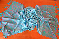 Шарф-палантин пашмина голубой, фото 1