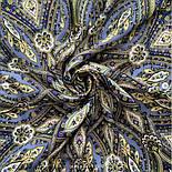 Золотая клетка 1826-12, павлопосадский платок шерстяной с шелковой бахромой, фото 3