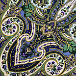 Золотая клетка 1826-12, павлопосадский платок шерстяной с шелковой бахромой, фото 5
