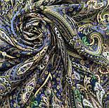 Золотая клетка 1826-12, павлопосадский платок шерстяной с шелковой бахромой, фото 8