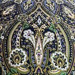 Золотая клетка 1826-12, павлопосадский платок шерстяной с шелковой бахромой, фото 7