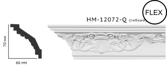 Карниз потолочный с орнаментом Classic Home New  HM-12072Q лепной декор из полиуретана,