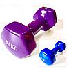 Гантель для фитнеса обрезиненная 3 кг
