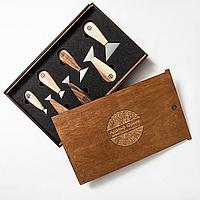 Набор ножей флажков для резьбы по дереву, 7 штук в пенале, STRYI