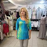 Блуза туника ментол холодок вискоза трикотаж лето 48-52, фото 3
