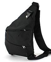 Сумка мужская на плечо удобный надежный мессенджер барсетка в113 черная 30х23см