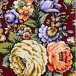 Душа розы 1838-10, павлопосадский платок (шаль) из уплотненной шерсти с шелковой вязаной бахромой, фото 8