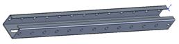 Планка кронштейна С-образная 600