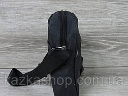 Мужская сумка через плечо, барсетка на регулируемом ремне, один отдел, вертикальная, фото 2