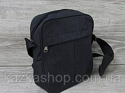 Мужская сумка через плечо, барсетка на регулируемом ремне, один отдел, вертикальная, фото 3