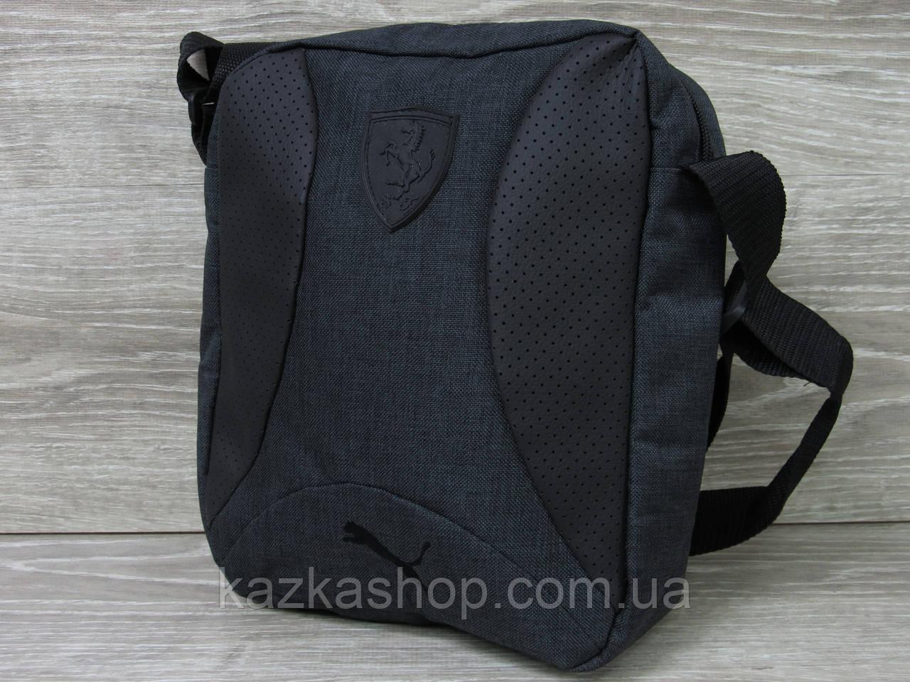 Мужская сумка через плечо, барсетка на регулируемом ремне, один отдел, вертикальная