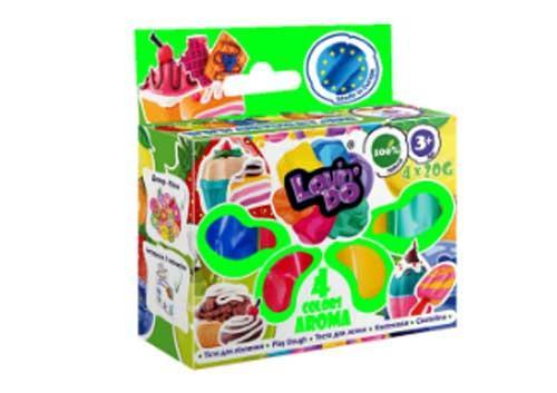 Набор теста для лепки 4 цвета, LOVINDO AROMA, 41032