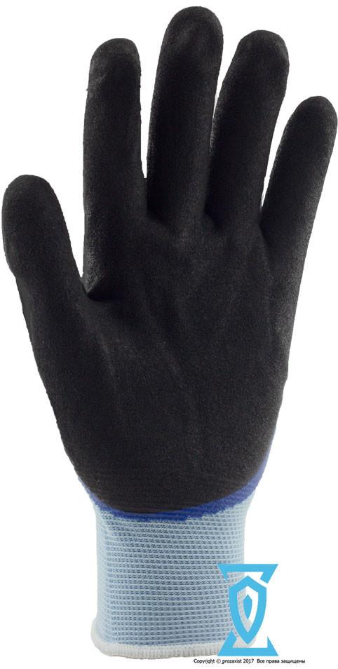 Перчатки рабочие покрытые вспененным латексом+нитрилом #159