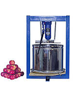 Пресс для отжима сока винтовой 25л с домкратом, давление 5 тон, гидравлический. Для яблок, винограда, сыра.