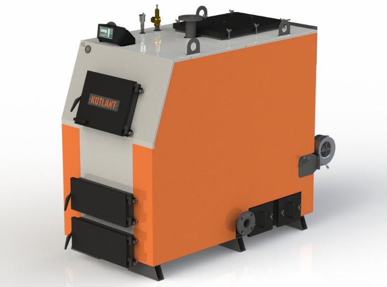 Твердотопливный котел Kotlant КВ-125 с автоматикой