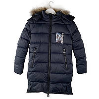 Зимняя куртка на подростка 12-16 лет. Размеры 146-170, есть замеры